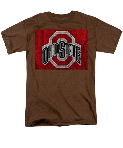 Ohio State University On Worn Wood Men's T-Shirt  (Regular Fit) by Dan Sproul