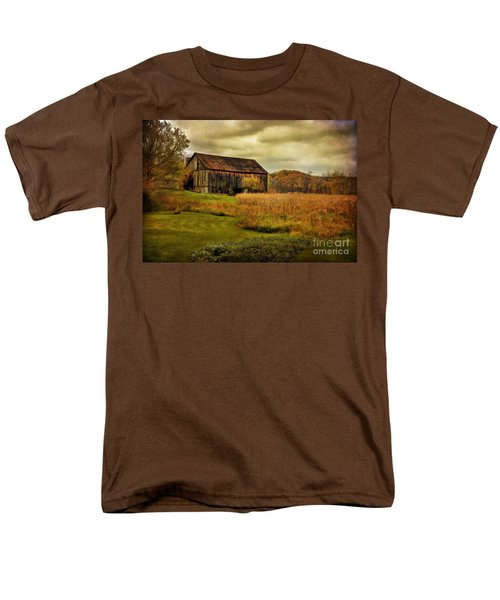 Old Barn In October Men's T-Shirt  (Regular Fit) by Lois Bryan