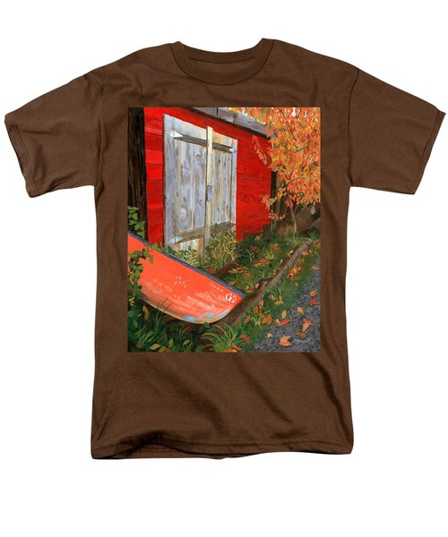 Men's T-Shirt  (Regular Fit) featuring the painting Old Canoe by Lynne Reichhart
