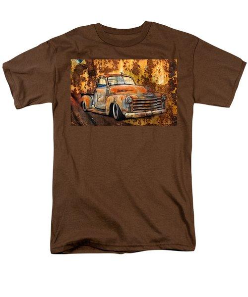 Old Chevy Rust Men's T-Shirt  (Regular Fit) by Steve McKinzie