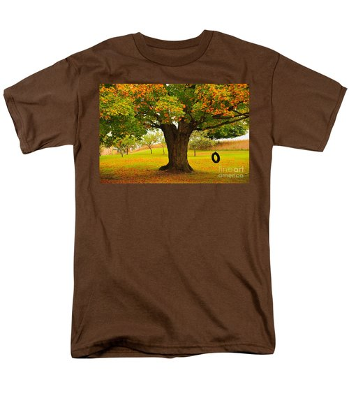 Men's T-Shirt  (Regular Fit) featuring the photograph Old Tire Swing by Terri Gostola