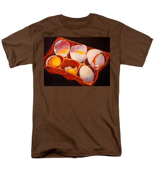 Men's T-Shirt  (Regular Fit) featuring the painting One Good Egg by Roger Rockefeller