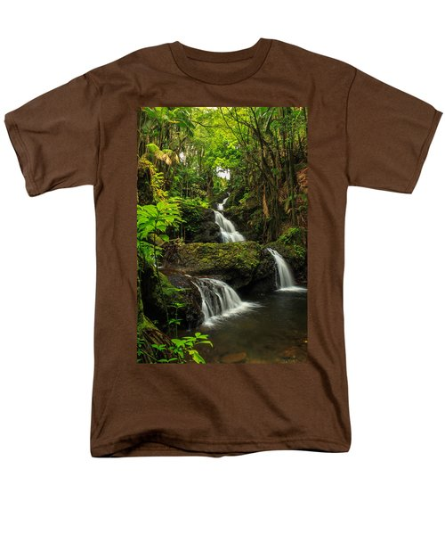 Onomea Falls Men's T-Shirt  (Regular Fit) by James Eddy