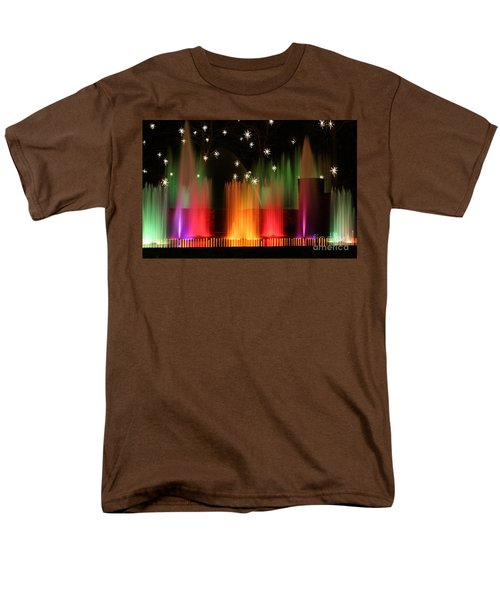 Open Air Theatre Rainbow Fountain Men's T-Shirt  (Regular Fit) by Living Color Photography Lorraine Lynch