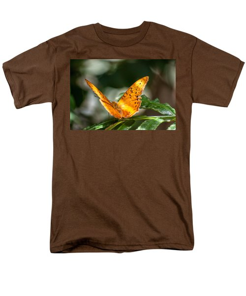 Orange Butterfly Men's T-Shirt  (Regular Fit) by Ray Warren
