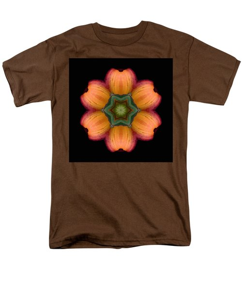 Orange Daylily Flower Mandala Men's T-Shirt  (Regular Fit)