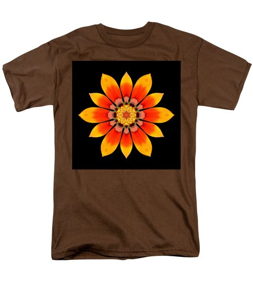 Orange Gazania I Flower Mandala Men's T-Shirt  (Regular Fit)