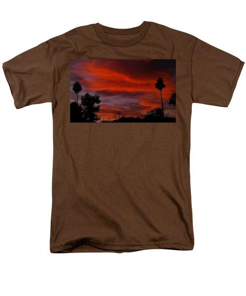 Orange Sky Men's T-Shirt  (Regular Fit) by Chris Tarpening