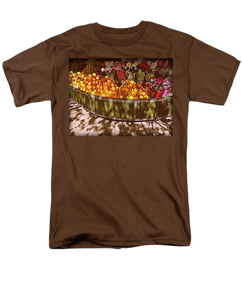 Men's T-Shirt  (Regular Fit) featuring the photograph Oranges And Flowers by Miriam Danar