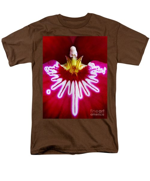 Men's T-Shirt  (Regular Fit) featuring the photograph Orchid Harlequinn-pansy Orchid by Jennie Breeze