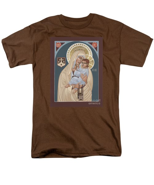 Men's T-Shirt  (Regular Fit) featuring the painting Our Lady Of Mt. Carmel 255 by William Hart McNichols