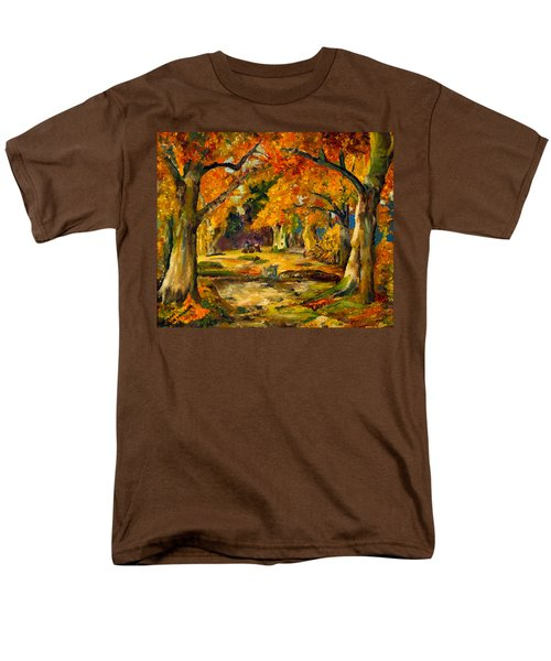 Men's T-Shirt  (Regular Fit) featuring the painting Our Place In The Woods by Mary Ellen Anderson