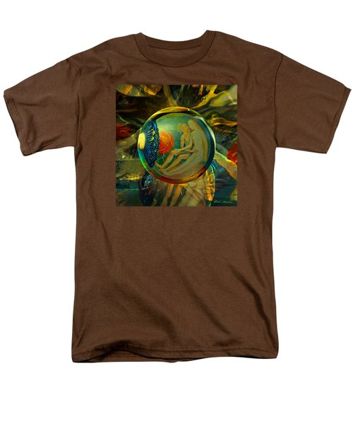 Men's T-Shirt  (Regular Fit) featuring the painting Ovule Of Eden  by Robin Moline