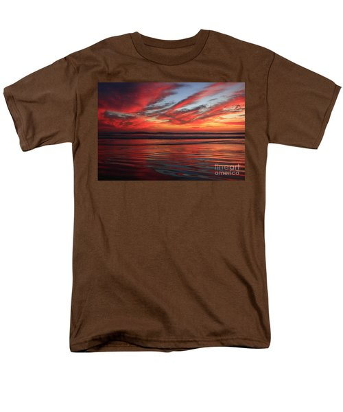 Men's T-Shirt  (Regular Fit) featuring the photograph Oceanside Reflections by John F Tsumas