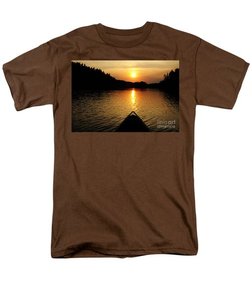 Paddling Off Into The Sunset Men's T-Shirt  (Regular Fit) by Larry Ricker