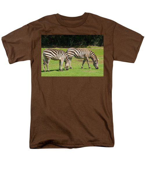 Men's T-Shirt  (Regular Fit) featuring the photograph Pair Of Zebras by Charles Beeler