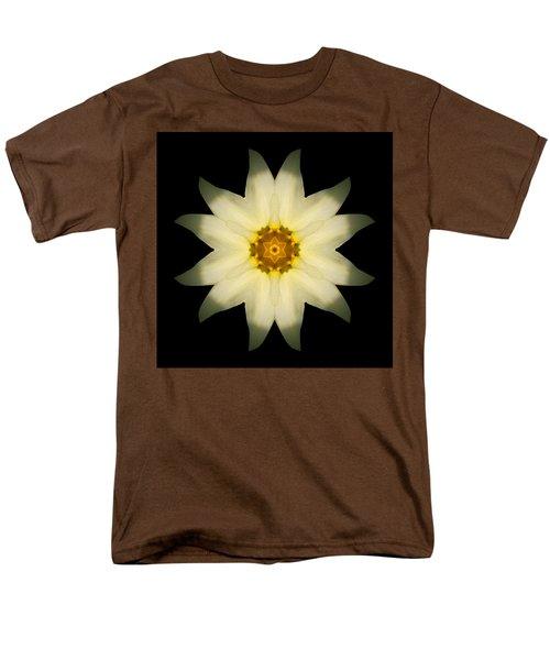 Men's T-Shirt  (Regular Fit) featuring the photograph Pale Yellow Daffodil Flower Mandala by David J Bookbinder