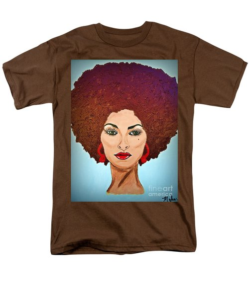 Pam Grier C1970 The Original Diva Men's T-Shirt  (Regular Fit) by Saundra Myles