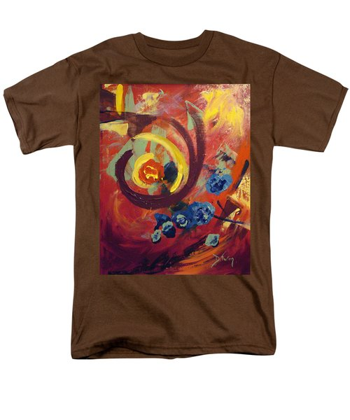 Men's T-Shirt  (Regular Fit) featuring the painting Pansymania by Donna Tuten