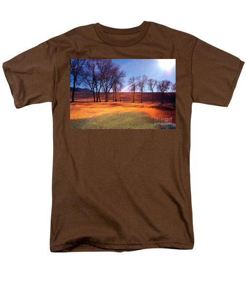 Park In Mcgill Near Ely Nv In The Evening Hours Men's T-Shirt  (Regular Fit) by Gunter Nezhoda