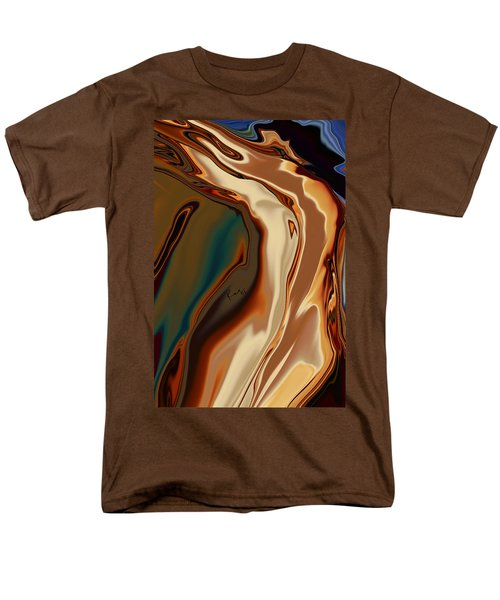 Men's T-Shirt  (Regular Fit) featuring the digital art Passionate Kiss by Rabi Khan
