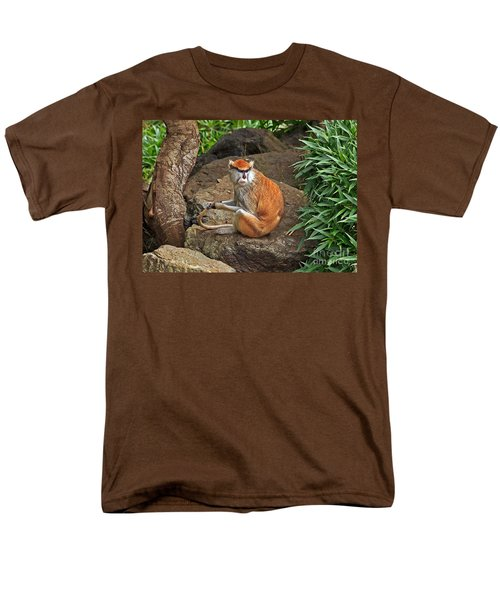 Men's T-Shirt  (Regular Fit) featuring the photograph Patas Monkey by Kate Brown