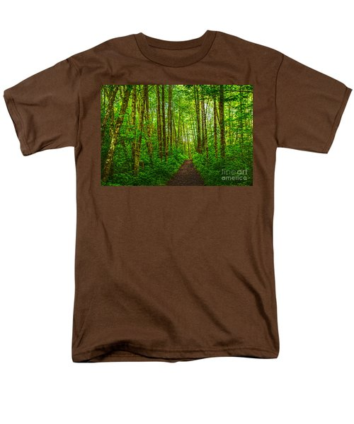 Path In Green Men's T-Shirt  (Regular Fit) by Sonya Lang