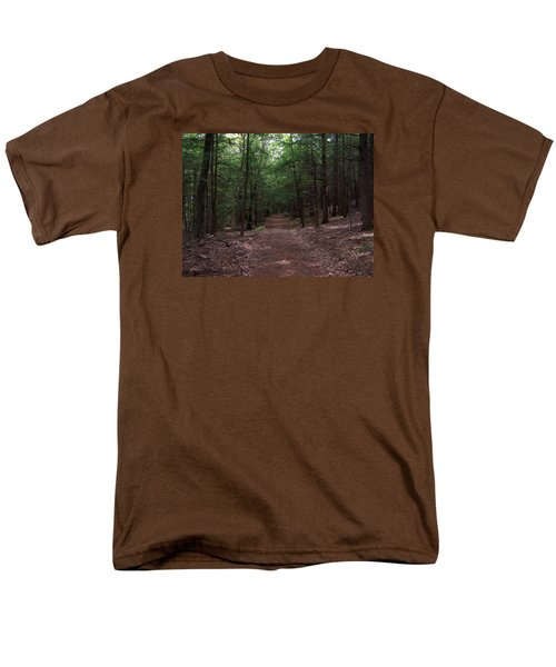 Path In The Woods Men's T-Shirt  (Regular Fit) by Catherine Gagne