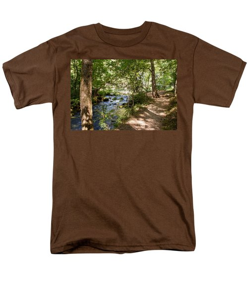 Men's T-Shirt  (Regular Fit) featuring the photograph Pathway Along The Springs by John M Bailey