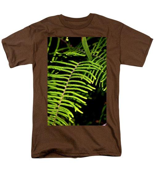 Men's T-Shirt  (Regular Fit) featuring the photograph Pauched Coral Fern by Miroslava Jurcik