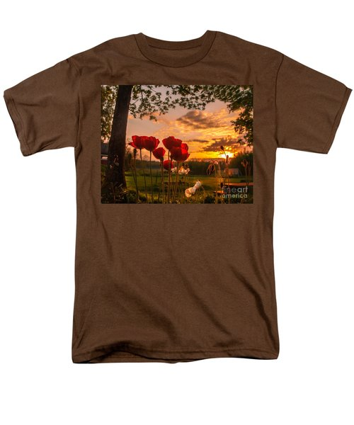 Peaceful Poppy Men's T-Shirt  (Regular Fit) by Rose-Maries Pictures
