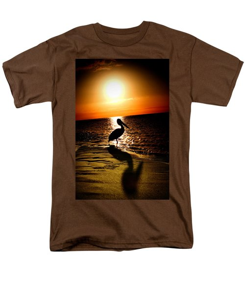 Men's T-Shirt  (Regular Fit) featuring the photograph Pelican Sunrise by Yew Kwang
