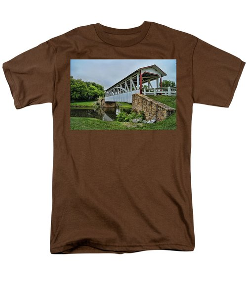 Pennsylvania Covered Bridge Men's T-Shirt  (Regular Fit) by Kathy Churchman