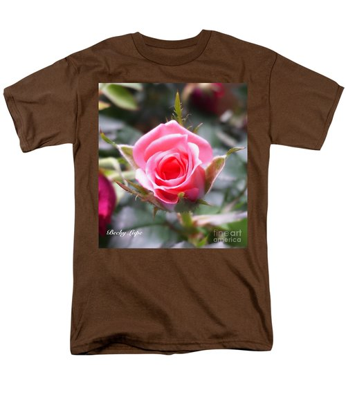 Perfect Rosebud In True Color Men's T-Shirt  (Regular Fit) by Becky Lupe