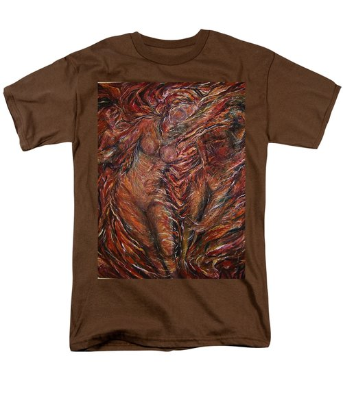 Men's T-Shirt  (Regular Fit) featuring the painting Trumpets Aired by Dawn Fisher