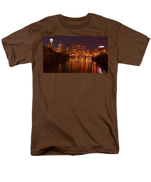 Philly Lights Reflected Men's T-Shirt  (Regular Fit) by Michael Porchik