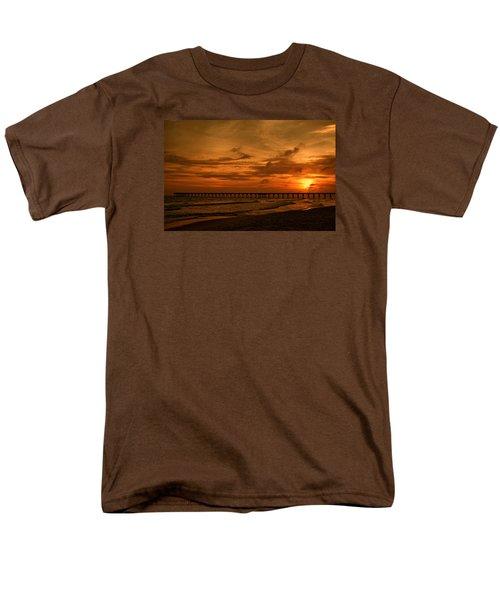 Pier At Sunset Men's T-Shirt  (Regular Fit) by Sandy Keeton