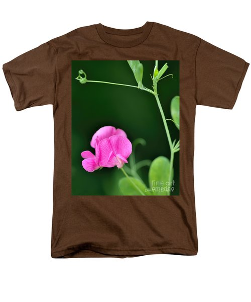 Pink And Green Men's T-Shirt  (Regular Fit) by David Perry Lawrence