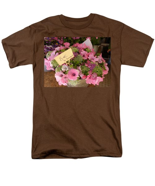 Men's T-Shirt  (Regular Fit) featuring the photograph Pink Bouquet by Carla Parris