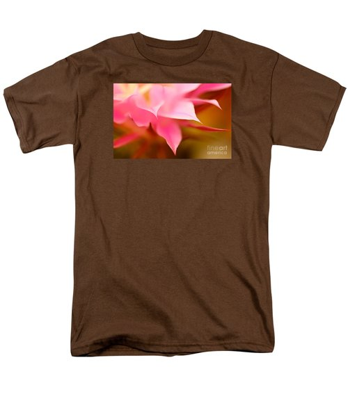 Pink Cactus Flower Abstract Men's T-Shirt  (Regular Fit) by Michael Cinnamond