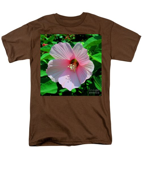 Pink Hibiscus Men's T-Shirt  (Regular Fit) by Luther Fine Art
