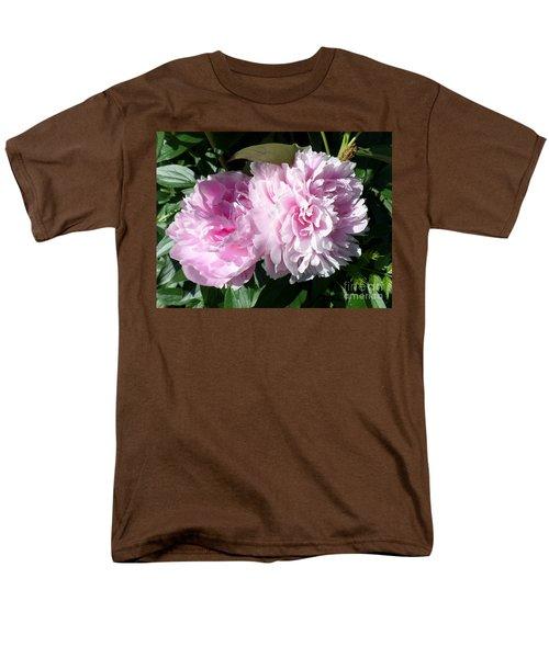Pink Peonies 3 Men's T-Shirt  (Regular Fit) by HEVi FineArt