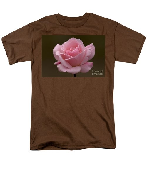 Men's T-Shirt  (Regular Fit) featuring the photograph Pink Rose by Meg Rousher