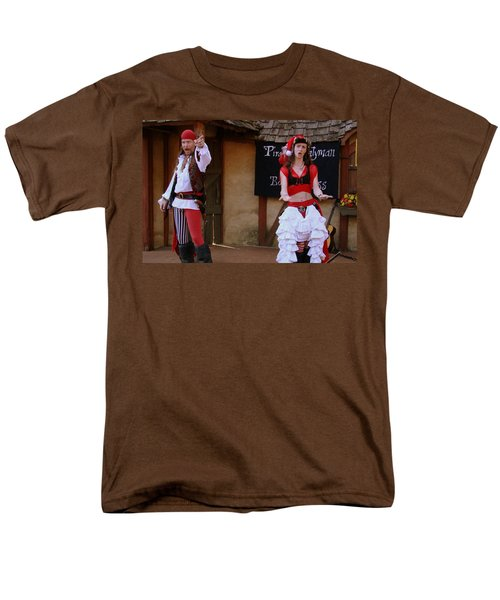 Pirate Shantyman And Bonnie Lass Men's T-Shirt  (Regular Fit) by Rodney Lee Williams