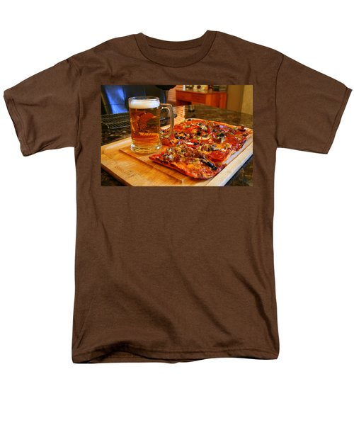 Pizza And Beer Men's T-Shirt  (Regular Fit) by Kay Novy