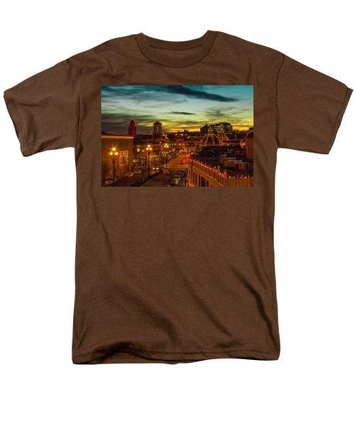 Plaza Lights At Sunset Men's T-Shirt  (Regular Fit) by Steven Bateson