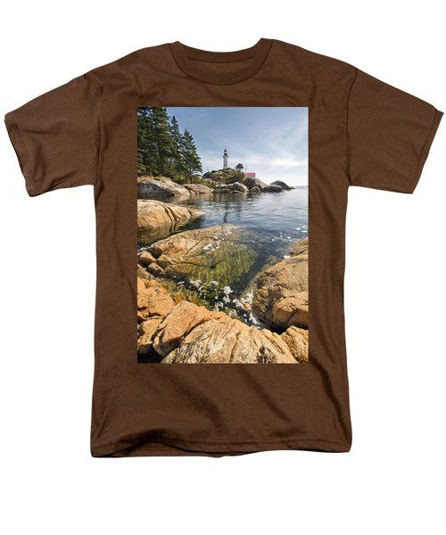 Men's T-Shirt  (Regular Fit) featuring the photograph Point Atkinson Lighthouse In Vancouver Bc Vertical by JPLDesigns