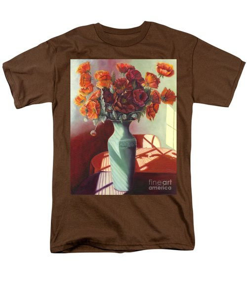 Men's T-Shirt  (Regular Fit) featuring the painting Poppies by Marlene Book