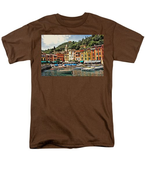 Portofino Harbor 2 Men's T-Shirt  (Regular Fit) by Allen Beatty