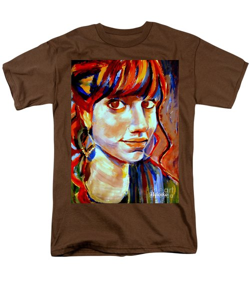 Men's T-Shirt  (Regular Fit) featuring the painting Portrait Of Ivana by Helena Wierzbicki